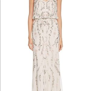 EMBROIDERED FLOWER GOWN